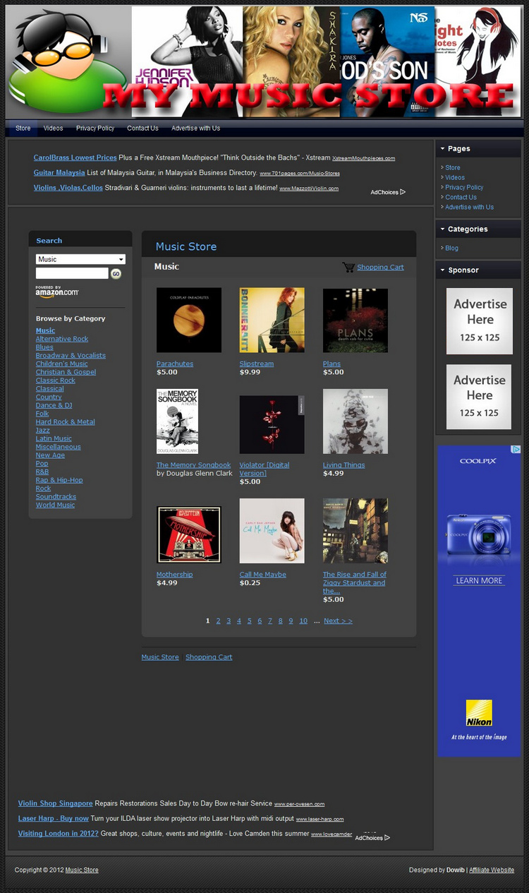 Music Store Make Money With Your Own E Commerce Website