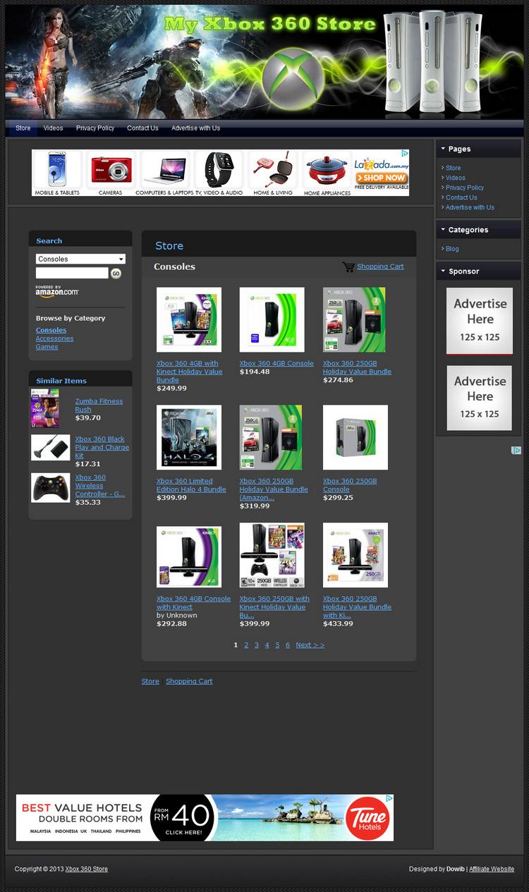 MICROSOFT XBOX 360 CONSOLE & VIDEO GAME STORE - Amazon ...