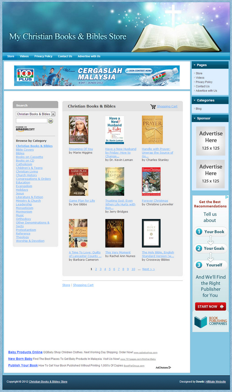 Christian books bibles store make money with your own for Build your own home website