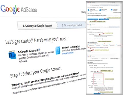 Google Adsense Affiliate Account Register Step