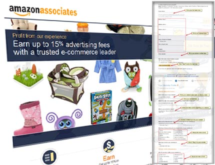 Amazon Associate Affiliate Account Register Step
